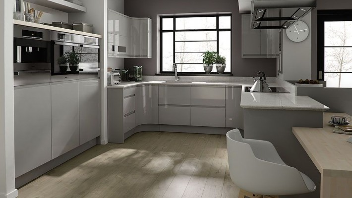 Remo High Gloss Handleless Kitchen