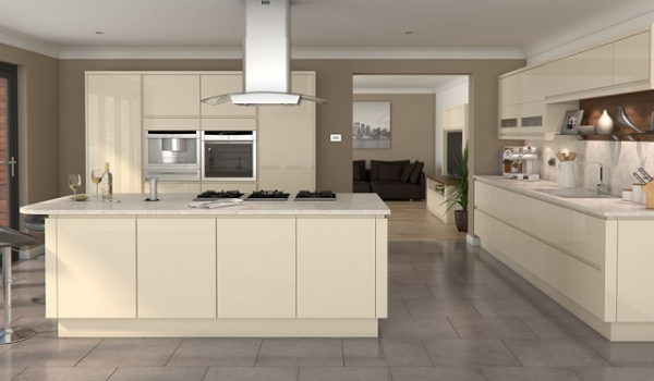 Welford Handleless Cream - Multiwood